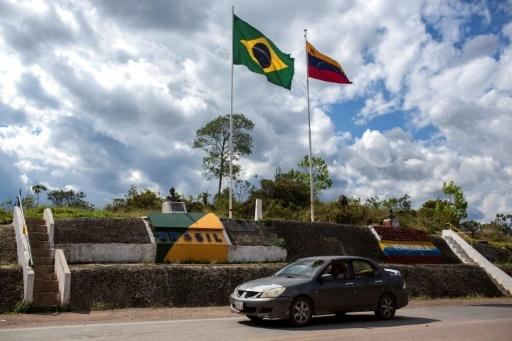 La frontière entre le Venezuela et le Brésil le 27 février 2018, à Pacaraima, au Brésil © Mauro Pimentel AFP