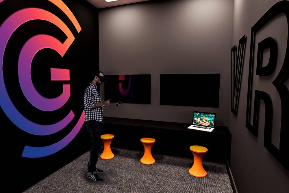 Le campus comportera même une salle dédiée uniquement à la Réalité Virtuelle, domaine émergent dans le secteur des jeux vidéo.   ©  Gaming Campus