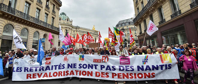 Manifestation de retraités à Paris en septembre 2017.