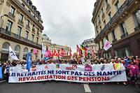 Manifestation de retraités à Paris en septembre 2017.  ©