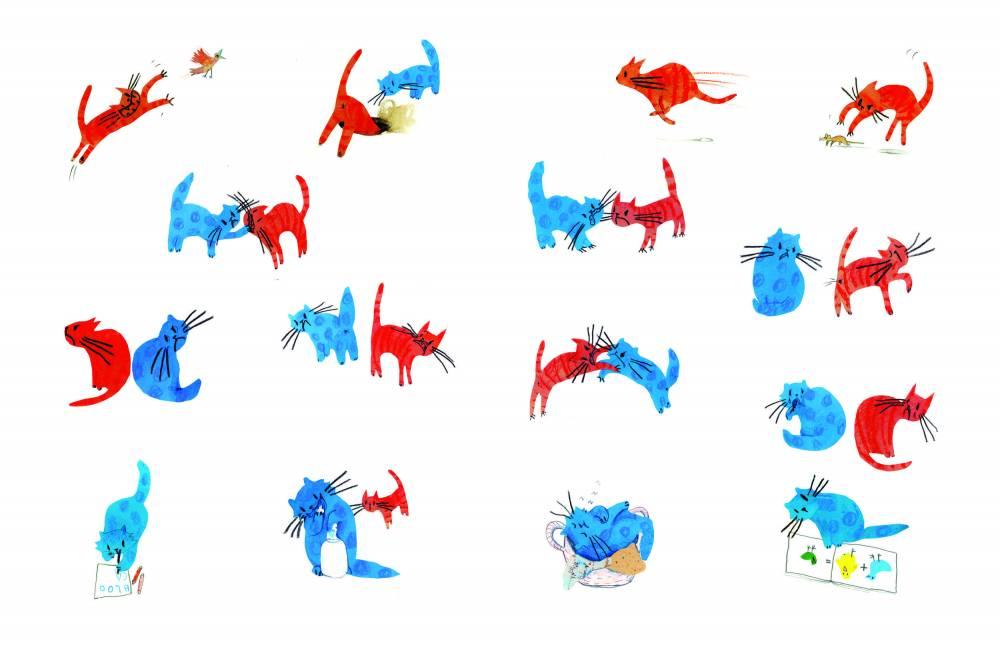 Chat rouge, chat bleu ©  Mango éditions