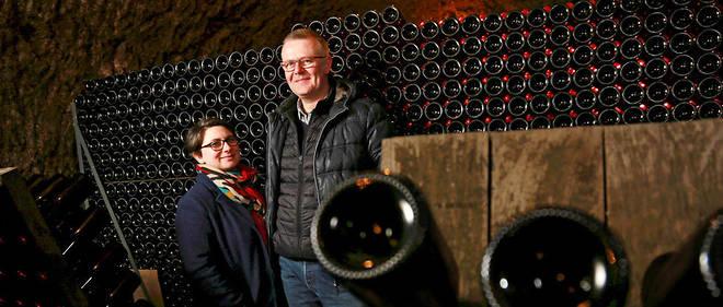 Astrid et Christophe Boutet, vignerons au Domaine Boutet-Saulnier