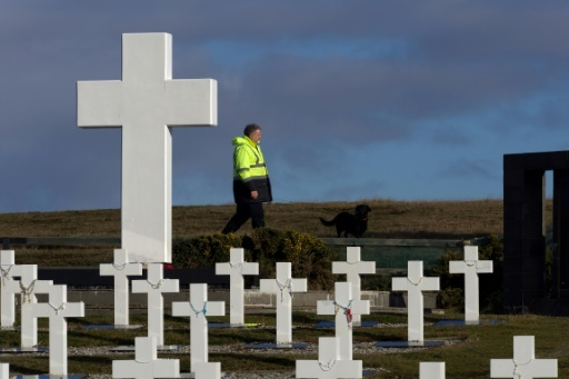 Le cimetière de Darwin aux îles Malouines, photo de la Croix-Rouge du 20 juin 2017 © DIDIER REVOL ICRC/AFP/Archives