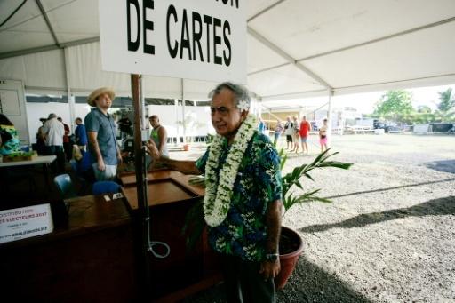 L'indépendantiste Oscar Temaru, le 3 juin 2017 à Faa'a, sur l'île de Tahiti en Polynésie française © ©Gregory Boissy AFP/Archives