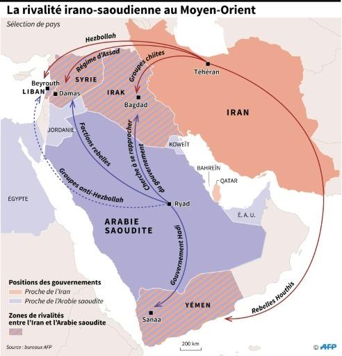 La rivalité irano-saoudienne au Moyen-Orient © Gillian HANDYSIDE AFP