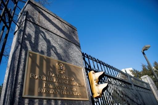 L'ambassade de Russie à Washington, le 26 mars 2018 © JIM WATSON AFP