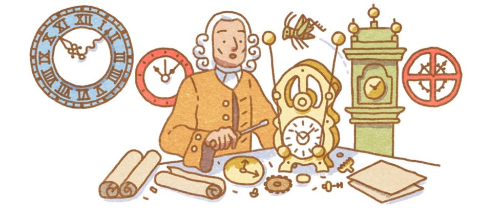 <p>Un Google doodle en l'honneur d'un horloger autodidacte n&#233; en 1693 et inventeur du chronom&#232;tre de marine.&#160;</p>