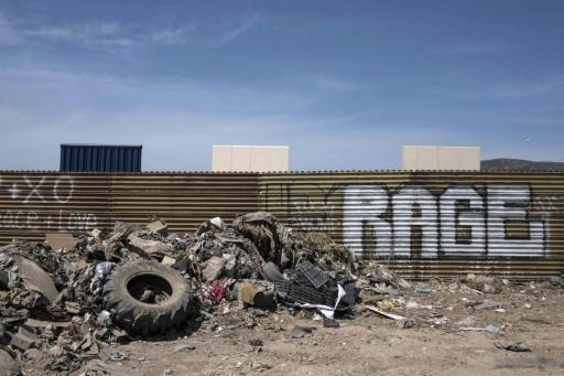 La frontière avec les Etats-Unis dans le nord-ouest du Mexique, le 3 avril 2018  © GUILLERMO ARIAS AFP