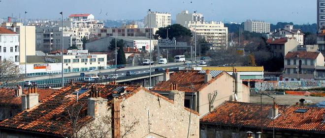 Le quartier de la Capelette, à Marseille, avec ses anciennes maisons au premier plan, était le QG de Jean-Louis Grimaudo, nouveau parrain du milieu marseillais assassiné jeudi.