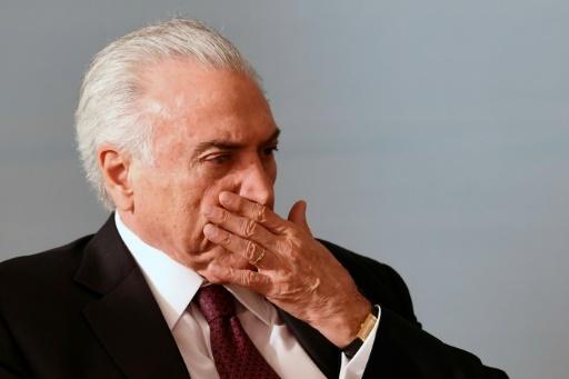 Le président du Brésil Michel Temer, le 27 mars 2018 à Brasilia © EVARISTO SA AFP/Archives