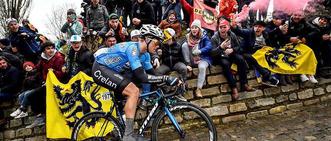 Michael Goolaerts lors du Tour des Flandres, le 1er avril 2018.