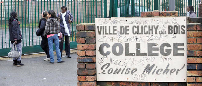 Le collège Louise-Michel de Clichy-sous-Bois.Pour faire reculer le repli de chacun sur sa communauté, le club préconise de «promouvoir une réelle égalité des chances et lutter contre toutes les discriminations grâce à des politiques publiques assises sur des indicateurs objectifs et chiffrés».