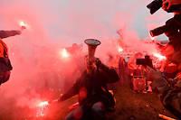 Manifestation de cheminots contre la réforme de la SNCF, le 9 avril à Paris.