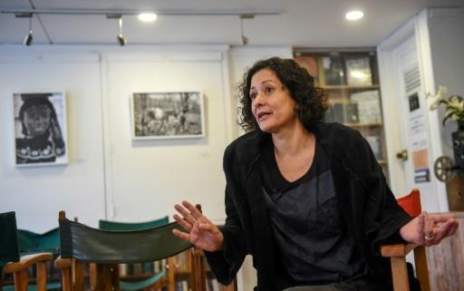 L'auteure colombienne Pilar Quintana lors d'un entretien à l'AFP, le 24 février 2018 à Bogota © Raul ARBOLEDA AFP