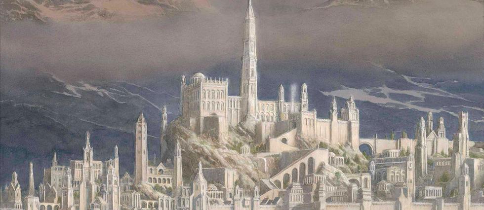<p>Illustration de la ville de Gondolin par Alan Lee.</p>