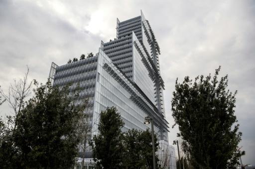 Le nouveau palais de justice de Paris conçu par les architectes Renzo Piano et Bernard Plattner, le 26 mars 2018, dans le nord de la capitale © CHRISTOPHE ARCHAMBAULT AFP