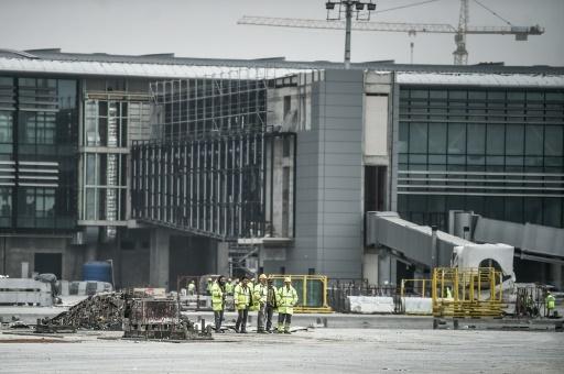 Le futur nouveau grand aéroport d'Istanbul, le 13 avril 2018 © OZAN KOSE AFP
