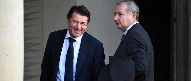 Le maire de Nice Christian Estrosi et celui de Toulouse, Jean-Luc Moudenc, ici en octobre 2017, s'organisent autour de La France audacieuse, pour formaliser de nouvelles idées.