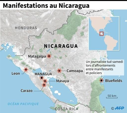 Manifestations au Nicaragua © Jean Michel CORNU AFP