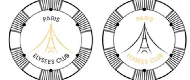 Le logo du nouveau club de jeu parisien, le Paris-Élysées Club.