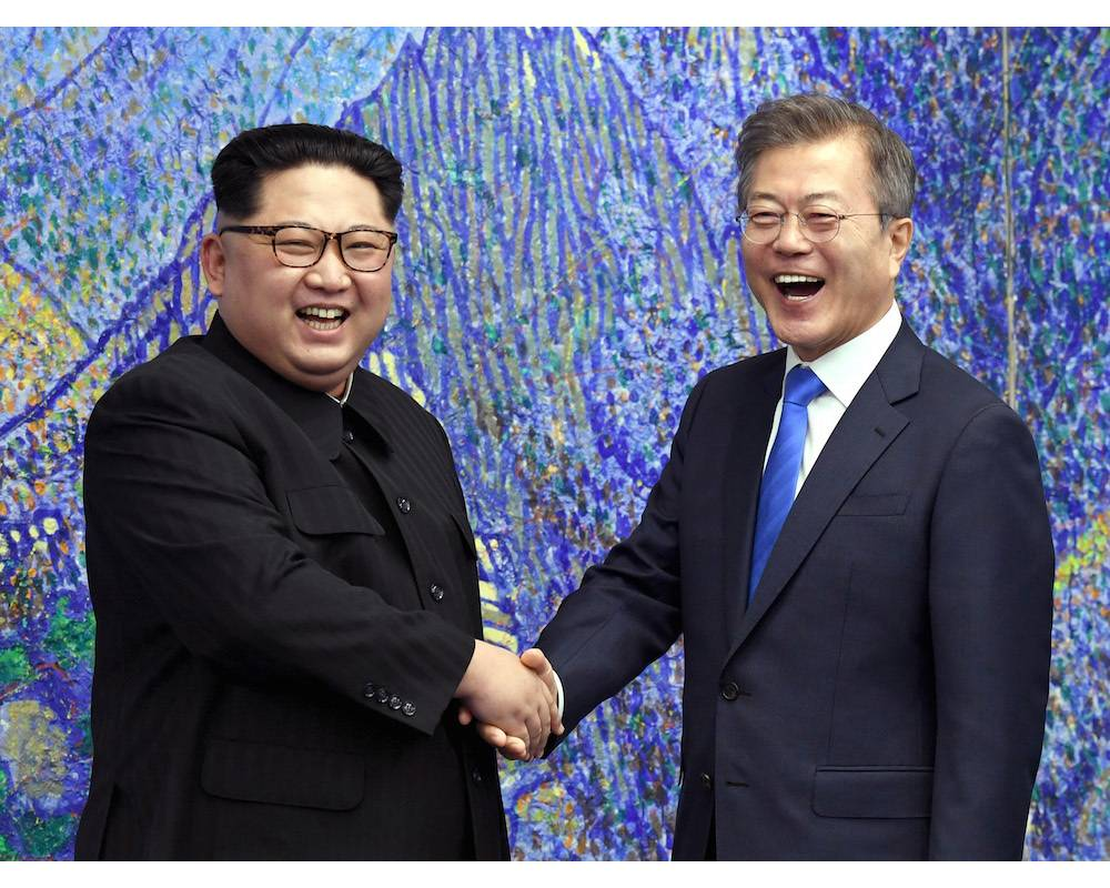 Kim Jong Un et Moon Jae-in ©  KOREA SUMMIT PRESS POOL / Korea Summit Press Pool / AFP