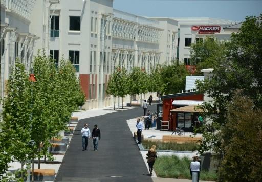 Le campus Facebook de Menlo Park, le 15 mai 2012 dans la Silicon Valley, en Californie © ROBYN BECK AFP/Archives