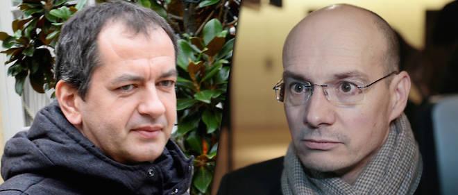 Pascal Pavageau, nouveau secrétaire général de FO, et Stéphane Lardy,aujourd'hui au cabinet de la ministre du Travail.