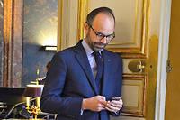 """Édouard Philippe le 9 avril.  ©Elodie Grégoire pour """"Le Point"""""""