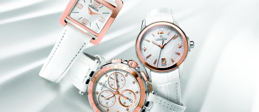 <p>Pour mettre le cap vers la belle saison, l'atelier horloger Michel Herbelin rhabille de blanc trois de ses best-sellers.&#160;</p>