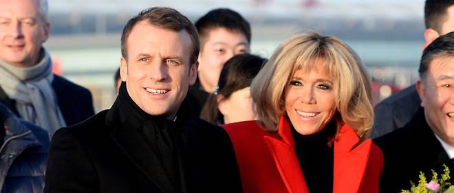 Le président Emmanuel Macron et son épouse Brigitte, ici en voyage officiel en Chine, en janvier 2018.