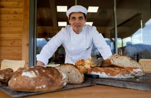 Thomas Teffri-Chambelland, le fondateur de l'Ecole internationale de boulangerie, le 18 avril 2018 à Noyers-sur-Jabron (Alpes-de-Haute-Provence)  © BERTRAND LANGLOIS AFP/Archives