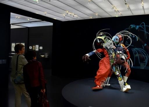 """Evocation de l'univers scénique du couple de danseurs allemands Walter Holdt et Lavinia Schulz, dans le cadre de l'exposition """"Couples modernes"""", au Centre Pompidou-Metz © JEAN-CHRISTOPHE VERHAEGEN AFP"""