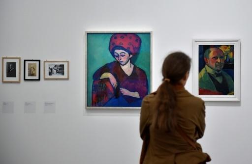 Oeuvres du couple formé par Alexej Jawlensky et Marianne von Werefkin, exposées au Centre Pompidou-Metz © JEAN-CHRISTOPHE VERHAEGEN AFP
