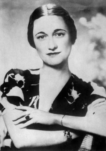 L'américaine Wallis Simpson, ici dans les années trente, pour laquelle le roi Edward VIII allait abdiquer de façon à pouvoir l'épouser. © - ACME/AFP/Archives