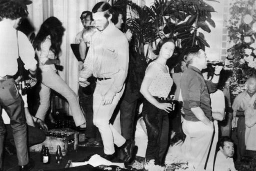 Le XXIe Festival de Cannes est interrompu à la suite de l'occupation du Palais des Festivals par des professionnels du cinéma, le 18 mai 1968 © PAUL LOUIS AFP/Archives