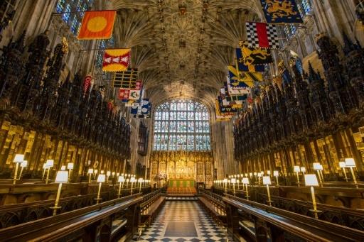 Le choeur de la Chapelle Saint-George, le 11 février 2018 au Château de Windsor, où se déroulera le mariage du prince Harry et de Meghan Markle  © Dominic Lipinski POOL/AFP/Archives