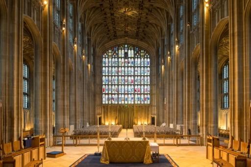 La nef de la Chapelle Saint-George, le 11 février 2018 au Château de Windsor, où se déroulera le mariage du prince Harry et de Meghan Markle  © Dominic Lipinski POOL/AFP/Archives
