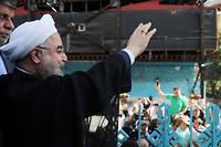 Massivement réélu avec 23,5 millions de voix, Hassan Rohani possède un solide mandat pour s'attaquer à de gigantesques chantiers. ©HO