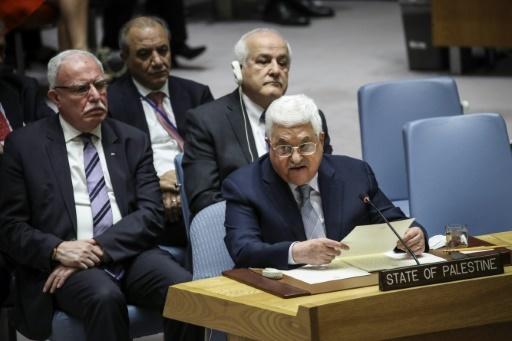 Le président palestinien Mahmoud Abbas au Conseil de sécurité de l'ONU à New York, le 20 février 2018 © Drew Angerer GETTY IMAGES NORTH AMERICA/AFP/Archives
