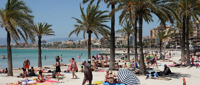 Une plage de Palma de Majorque (illustration).