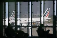 Avions d'Air France en 2014 lors d'une précédente grève...  ©STEPHANE DE SAKUTIN