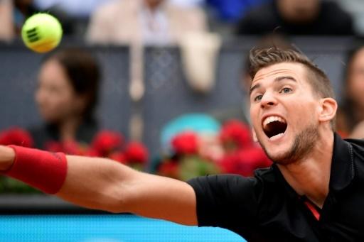 L'Australien Dominic Thiem qualifié pour la finale du tournoi de Madrid le 12 mai 2018 © JAVIER SORIANO AFP