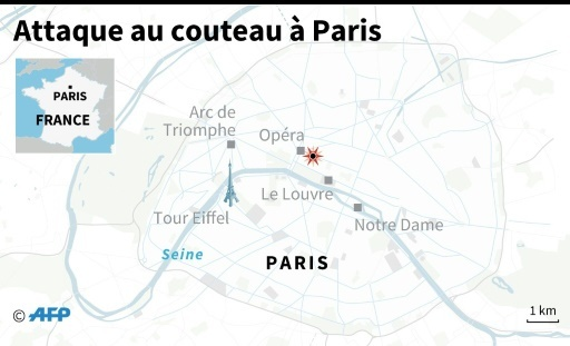 Attaque au couteau à Paris ©  AFP