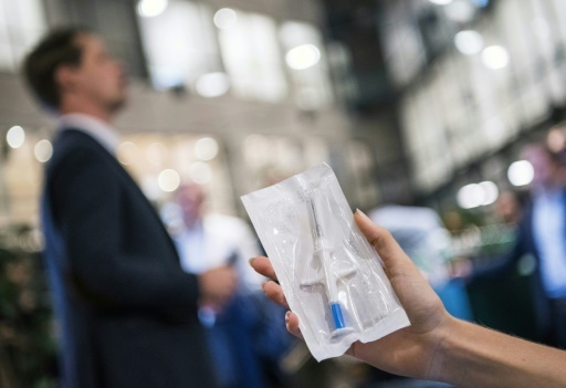 Il existe 3.000 adeptes de cette nouvelle technologie, en Suède © Jonathan NACKSTRAND AFP
