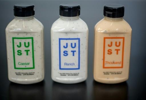 L'entreprise californienne Just est connue aux Etats-Unis pour sa mayonnaise sans oeuf  © JOSH EDELSON AFP