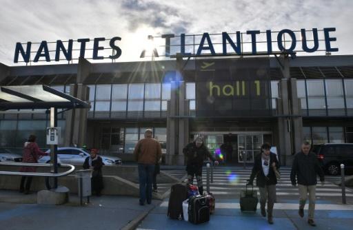 L'aéroport de Nantes-Atlantique en janvier 2018 © LOIC VENANCE AFP/Archives
