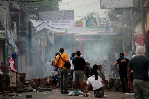 Barricades de manifestants anti-gouvernementaux à Masaya au Nicaragua, le 12 mai 2018 © DIANA ULLOA AFP