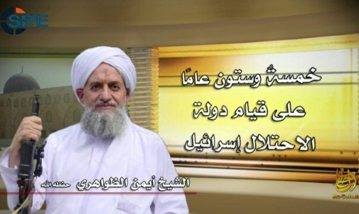 Le chef d'Al-Qaïda, Ayman al-Zawahiri, photo diffusée par le SITE Intelligence Group, agence spécialisée dans la surveillances des sites islamistes, le 6 juin 2018 © - SITE Intelligence Group/AFP/Archives