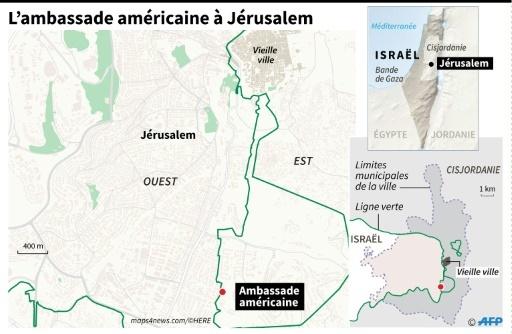 L'ambassade américaine à Jérusalem © Paz PIZARRO AFP