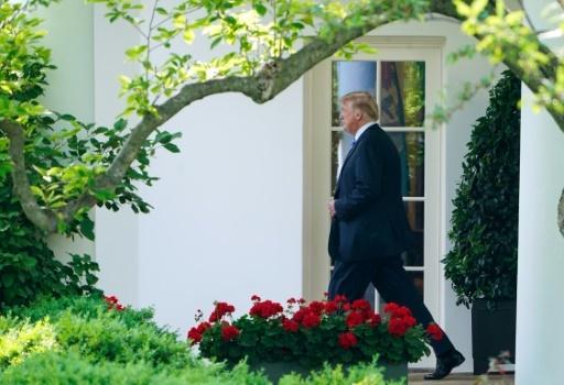 Donald trump quittant la Maison Blanche le 14 mai 2018 pour se rendre au chevet de Melania © Mandel NGAN AFP